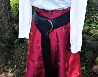Custom made black leather o-ring belt - fashion accessory - costume accessories - renaissance cosplay belt - Dagorhir belt - Belegarth belt