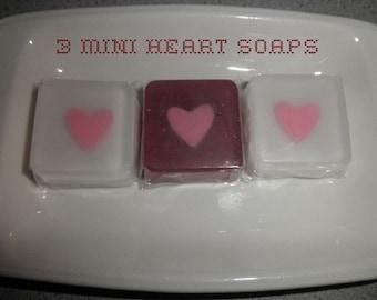 Mini Heart Soaps