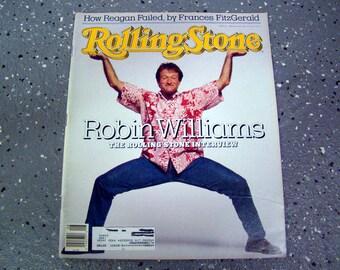 Robin Williams - Rolling Stone Magazine Issue# 520 - 1988
