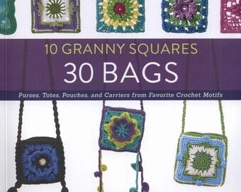 10 Granny Squares 30 Bags - PDF ebook - Crochet patterns - Instant download - pdf file
