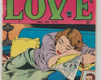 Personal Love; Vol 3, 4, Silver Age Romance Comic Book. VG (4.0). March - April 1959. Prize Group