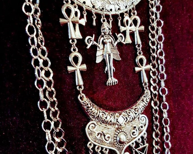 Lilith Necklace - Lilith Lucifer Ankh Feminista Demonic Mother Vampire Queen gothic goth
