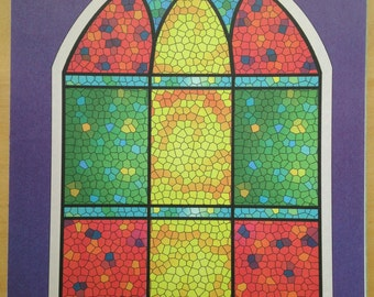 8.5x11 Stained Glass Window Print Paper