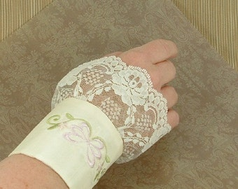 SHABBY CHIC Victorian Style Cuff  ETSY FREE SHIPPING