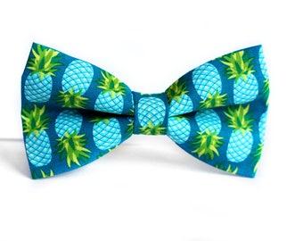 Pineapple Bow Tie, Hawaiian Bow Tie, Bowtie, Dog Bow Tie, Mens Bow Tie, Boys Bow Tie, Kids Bow Tie, Toddler Bow Tie, Fun Bow Tie, For Him