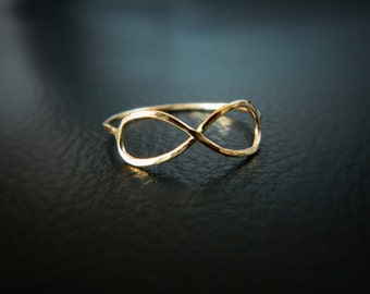 Infinity Ring, Infinity Jewelry, Infinity Rings, Gokd Infinity Ring, Stacked Ring, Friendship, Geometric Ring
