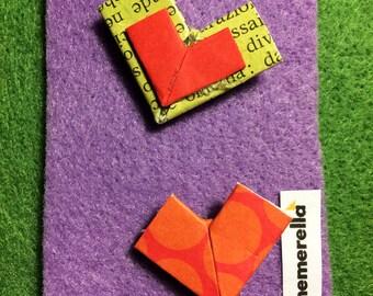 EphemeraPin - Pair of Pin  (Tiny hearts)