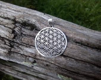 Sacred geometry pendant, Flower of life jewelry, Geometric necklace, Mystic spiritual jewel, Sacred geometry necklace, Bohemian jewelry