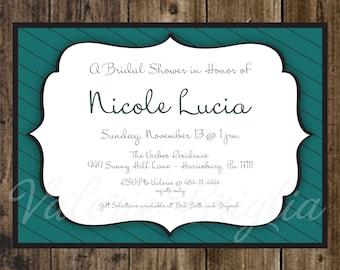 Bridal Shower Invitation, printable file