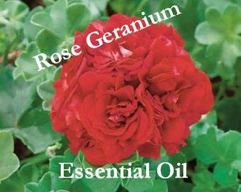 100% ROSE GERANIUM Essential Oil (2 oz. size) Organic & Pure