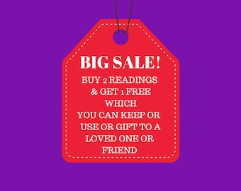 SALE! Buy 2 Readings and get 1 Free