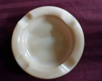 Rose-ite milk glass ash tray.