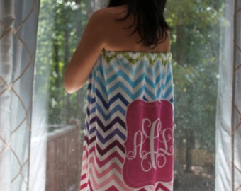 Personalized Printed Towel Wrap, NOT EMBROIDERED, Spa Wrap, Design your own, Bridesmaid towels,