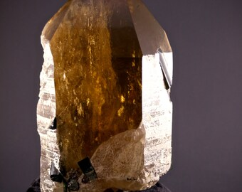 Massive Citrine with Blue and Green Tourmaline (with cushion)- Positivity, Energy, Abundance