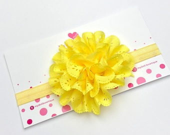 Headband, yellow headband, flowers