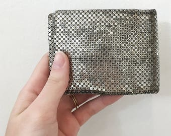 Vintage 1950s - 60s Whiting & Davis Silver Mesh Wallet