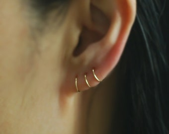 14K Gold Filled Cartilage Hoop Earrings,Cartilage Earrings,Nose Hoop,Nose Ring,piercing earring,Tiny Cartilage,Helix,Tragus,Ear Lobe