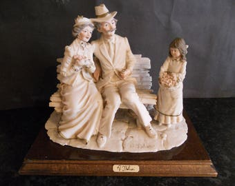 Capodimonte. Beautiful Figurines Statue by A Belcari.