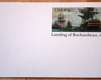Mint USPS Stamped Postcards--Landing Of Rochambeau, 1780--Scott #UX84--10c--1980--Shipping Included