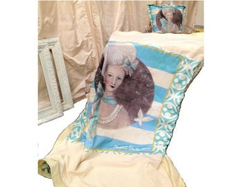 Antoinette Bleu- Limited Edition Art THROW