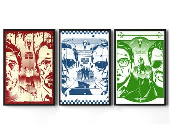 The Cornetto Trilogy - Inspired By Shaun of the Dead, Hot Fuzz, The Worlds End - Movie Poster Set