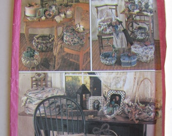 1980's Craft Sewing Pattern - Simplicity 9471 Picture frames, baskets and boxes