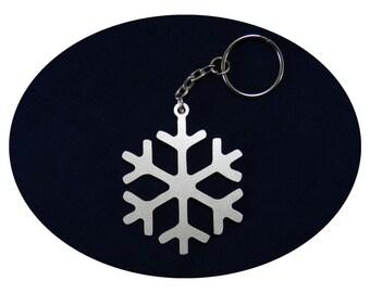 Snowflake Lucky Charm Bag Dangler and Key Ring