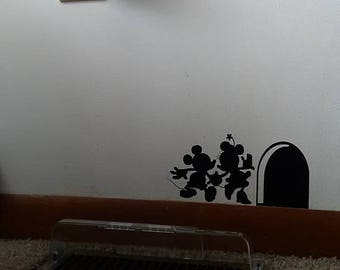 Mickey And Minnie Mouse Wall Design; Wall Decal; Disney; Wall Sticker;  Mickey