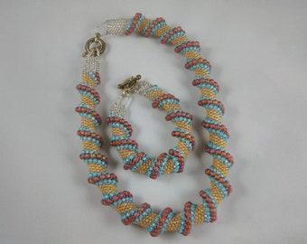 Cellini Spiral Necklace and bracelet set