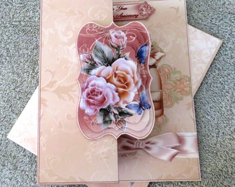 Anniversary roses card and envelope