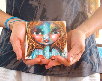 I am an enchanted forest, ceramic art tile