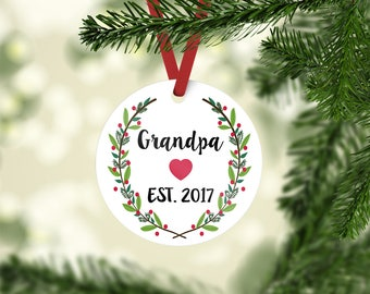 grandpa ornament / Christmas ornament / ornament / custom ornament / grandma ornament / Christmas gift / grandparent ornament / grandpa