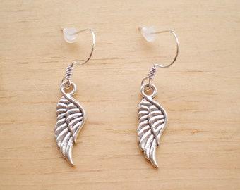 Wing Earrings, Angel Wing Earrings, Charm Earrings, Jewelry Findings