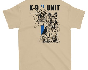 K-9, Chicago Police Canine Unit - 6 oz, 100% preshrunk cotton TShirt
