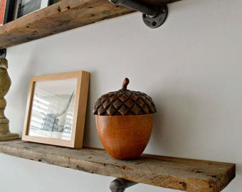 Barn Wood Floating Shelf - Reclaimed Wood From 150 year old Barn