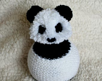 Knit Panda Bear Hat