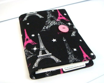 Honey Do List, Grocery List Taker/ Comes with- Note Pad and Pen - Black and Hot Pink Eiffel Tower Paris