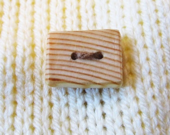 4 Wood buttons natural wood buttons handmade wooden buttons eco friendly supply knitting buttons sewing buttons two hole buttons (WBT-3)