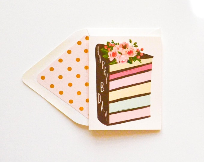 Birthday Layered Cake card