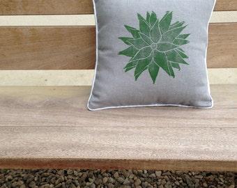 Grey Succulent Cushion