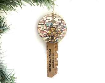 Personalized New Home Housewarming Gift, Unique Real Estate Closing, Key Ornament, First New Home Christmas Ornament, Realtor Closing Gifts