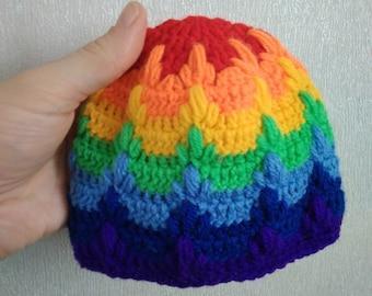 Rainbow Baby Beanie Crochet Baby Hat Crochet Baby Beanie Newborn Hat Rainbow Baby Shower Gift Photography Prop New Baby gift from Loren Ver