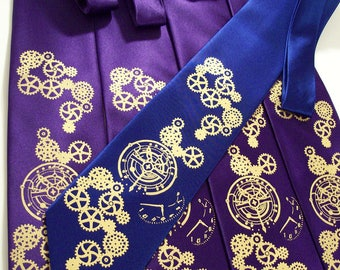 6 Mens and 1 Boys wedding neckties Clock Works design custom colors available