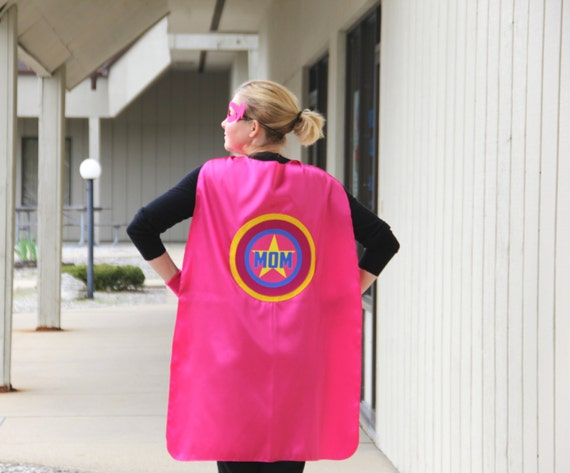 Adult Superhero Costume Superhero Cape Custom MOM or DAD uxM3dnW