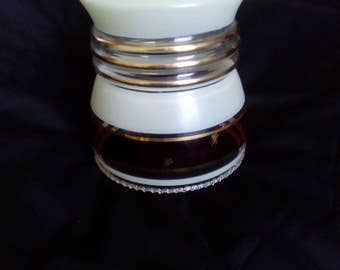 Mid century or earlier glass lampshade