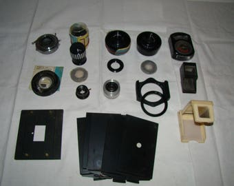 Set of photo and development material