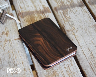 Wooden wallet, credit card wallet, women's and men's wallet, slim wallet, modern design wallet, magic wooden wallet, magic wallet