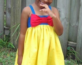 Snow White Dress | Snow White | Snow White Birthday Party | Girls Dress | Ruffled Dress | Disney Vacation