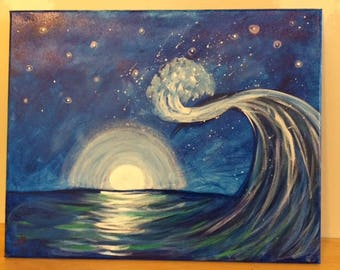 Canvas Painting, Waves
