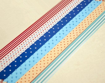 Origami Lucky Star Folding Paper Mixed Print Paper Strps - About 100 Strips